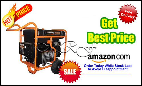 Generac 5735 GP17500E 26,250 Watt 992cc OHV Portable Gas Powered Generator With Electric Start