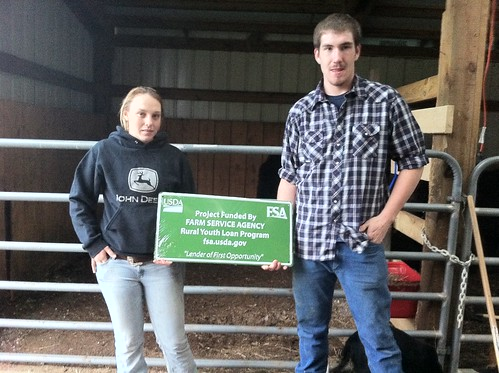 Rebecca Hatcher and Jake Broadway got their first taste of the cattle business through an FSA Youth Loan.