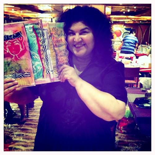 kathy & her journal in my workshop!