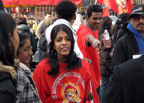 Tamil demonstration, Yonge Street, Toronto, 2009