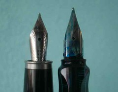 Cross Apogee nib and Lamy AL-Star nib side-by-side