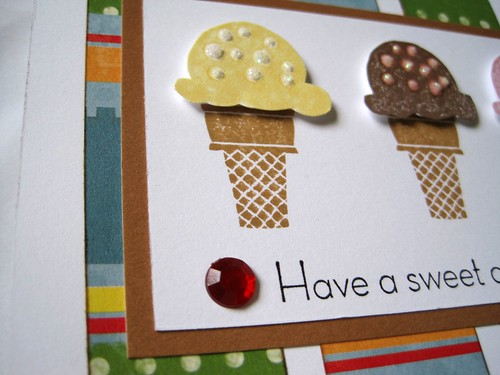 Sweet Scoops card closeup