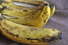 bananas, (too ripe)