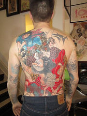 Tattoo by Daniel Innes - in progress (pearlharborgiftshop) Tags: tattoo japanese tattoos backpiece tengu danielinnes pearlharborgiftshop