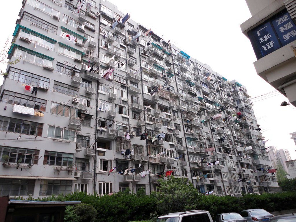 A relatively average apartment building in Shanghai