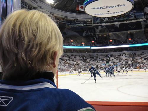 Aidan watching ice heroes
