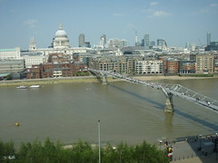 View of Millennium Bridge from the Tate Modern museum (a3rynsun) Tags: bridge england london museum modern tate millennium