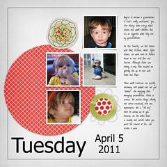 April 5, 2011 (flakyredhead) Tags: scrapbook aiden victoria load digiscrapping layoutaday