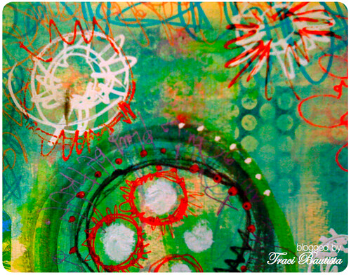 prints and scribbles on a manila folder