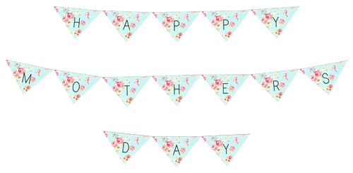 Freebie Mothers day Bunting Printable Example