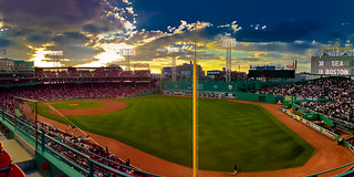 Sunset Over Fenway Park, Boston