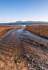 Looking Back (-The Wickerman-) Tags: sunset mountains beach canon bay scotland 2470mml scottish 5d isle arran bute wickerman landcsape scalpsie