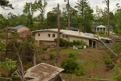 thumbs up on the roof (skippy haha) Tags: train destruction neworleans alabama crescent amtrak tuscaloosa damage jazzfest tornado skippyhaha