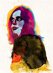 girl10 (alvaro tapia hidalgo) Tags: woman texture colors girl look illustration manchester eyes graphic fallowfield