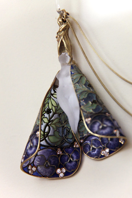 Pendant with chain, R.J. Lalique, Paris, around 1900