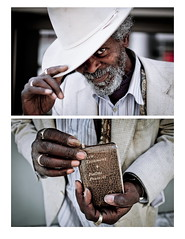 Chester - Diptych (Tim Ronca) Tags: street city portrait people hat canon losangeles hands diptych rings bible 5d mkii