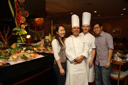 Executive Chef Sandro Falbo and Executive Pastry Chef Christophe Grilo of HIlton Singapore
