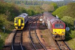 67021 and 158782 (robert55012) Tags: inverkeithing firstscotrail ews class158 class67 67021 158782 dbschenker
