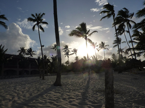On the beach in Punta Cana