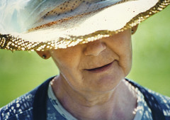 wherever we go (manyfires) Tags: grandma summer portrait love film hat garden pentaxk1000 gma