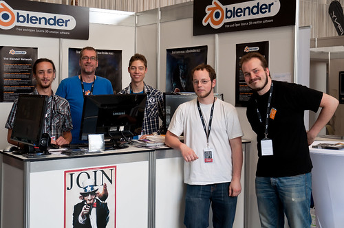 Blender booth crew at FMX 2011