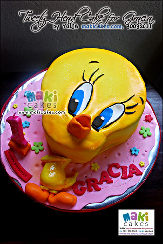 Tweety Head Cake for Gracia_ - Maki Cakes