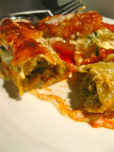 Jamie Oliver's Baked Cauliflower and Broccoli Cannelloni