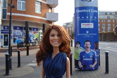 Princess Catherine Engagement Doll at Chelsea Football Club (Princess Catherine Doll) Tags: london toy doll princess kate royal tourist catherine british middleton arklu
