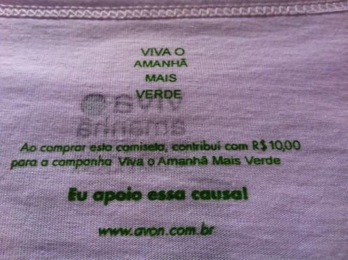 Viva o amanhã mais verde - Eu apoio essa causa www.avon.com.br