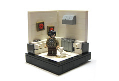 Mr. Poofkins (ernald) Tags: kitchen cat lego contest network vignette lcn