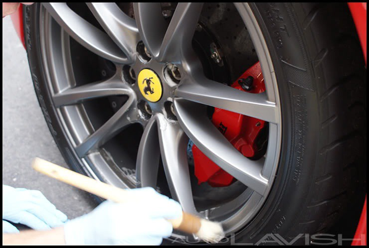 ferrari wheel cleaning