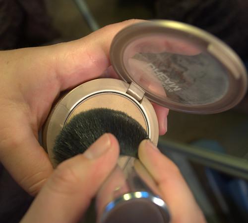kabuki brush in matte powder