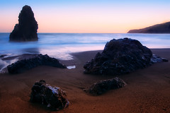 Stillness at Rodeo Beach (Matt Granz Photography) Tags: ocean california desktop sunset wallpaper motion blur beach water photography evening twilight rocks long exposure pacific dusk marin surreal headlands rodeo stacks sfist mattgranz