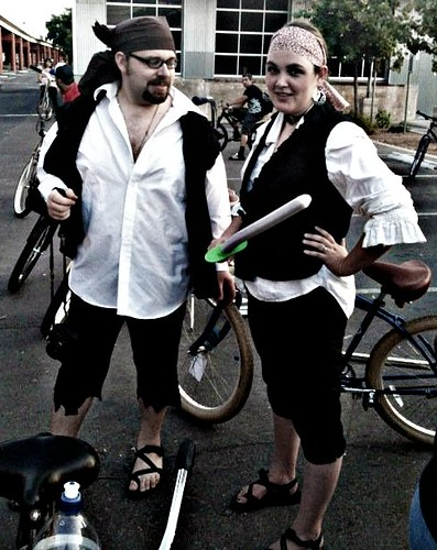 Wife and I at Pirate Bike Ride