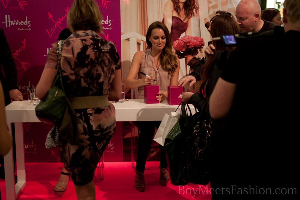 Vera Wang and Leighton Meester at Harrods, launching Lovestruck