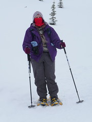 snowshoeing on Mt Rainier