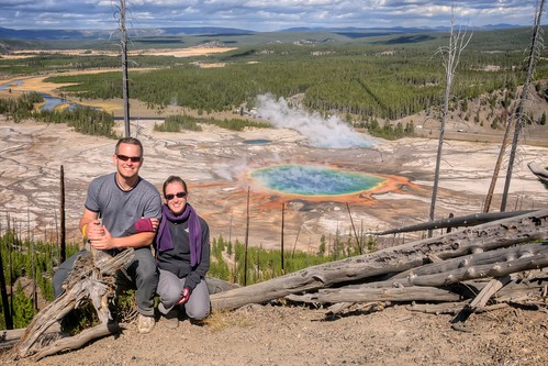 Stef & Jeff at Grand Prismatic Spring