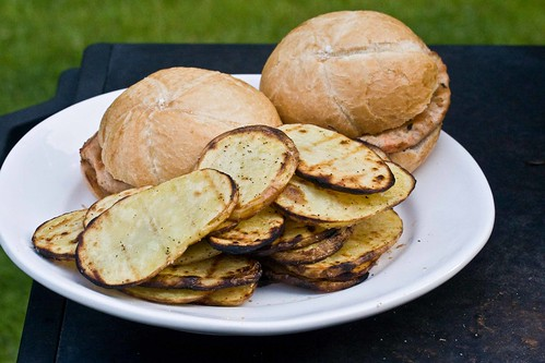 potatoes (way better than the burgers)