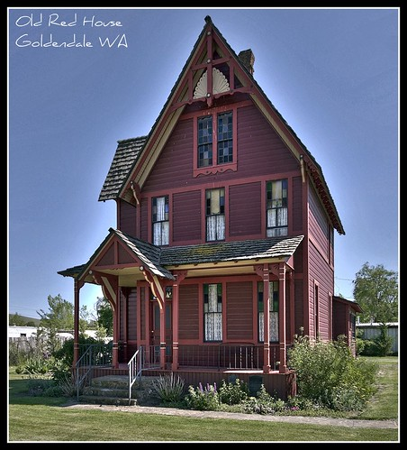 Goldendale (WA) United States  city pictures gallery : Old Red House, Goldendale WA a photo on Flickriver