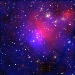 Pandora's Cluster Revealed (NASA, Chandra, 06/22/11) [EXPLORED] (NASA's Marshall Space Flight Center) Tags: nasa astronomy darkmatter chandra xraytelescope galaxycluster chandraxrayobservatory abell2744 pandorascluster
