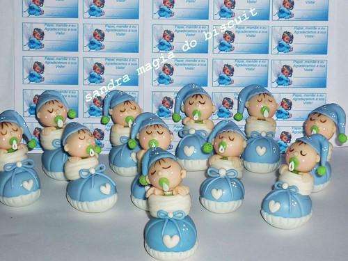 Lembrancinhas bebe no sapatinho by galeria magia do biscuit