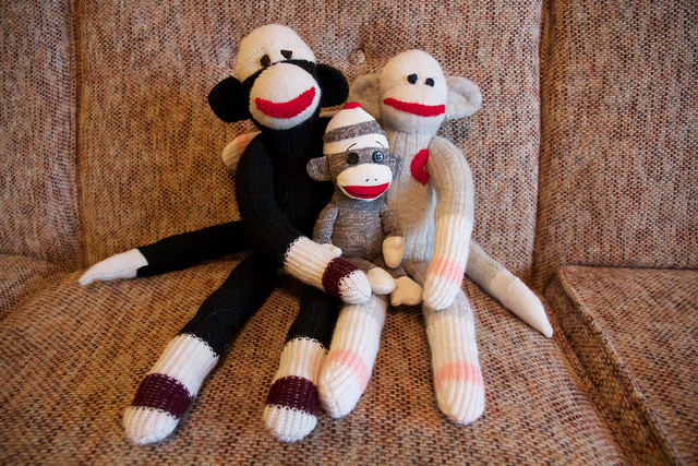 Sock monkey family.