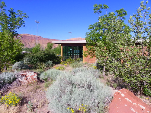 Landscaping and library - Grand County Public Library, Moab
