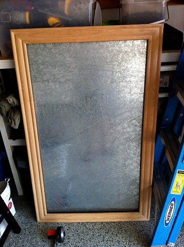 Galvanized Magnet Board Before It Was Hung
