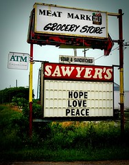 Sawyer's Sale Sign (Moonflower Studio) Tags: love hope peace sawyers shoptilyoudrop pwactions