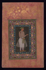 Album of Persian and Indian calligraphy and paintings, A young Mughal courtier with a sword, Walters Manuscript W.668, fol.65a (Walters Art Museum Illuminated Manuscripts) Tags: india illustration painting miniature persian poetry iran album 17thcentury indian 19thcentury illumination literature calligraphy 18thcentury islamic accordionbook waltersartmuseum 16thcentury nineteenthcentury mughal qajar safavid sixteenthcentury eighteenthcentury seventeenthcentury httpthedigitalwaltersorg