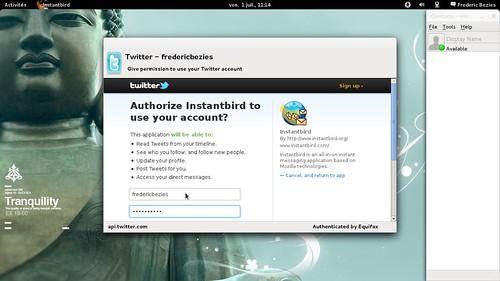 création de compte twitter