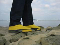 Jeantex Segelstiefel / Gummistiefel (Nordsee2011) Tags: rubberboots gummistiefel rainboots regenstiefel sailingboots segelstiefel