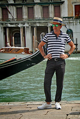IMG_9101Crop (bob_rmg) Tags: cruise thomson celebration venice canal gondolier pose