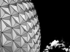 Epcot (DaveKav) Tags: triangles mono geometry solid geodome epcot florida disney